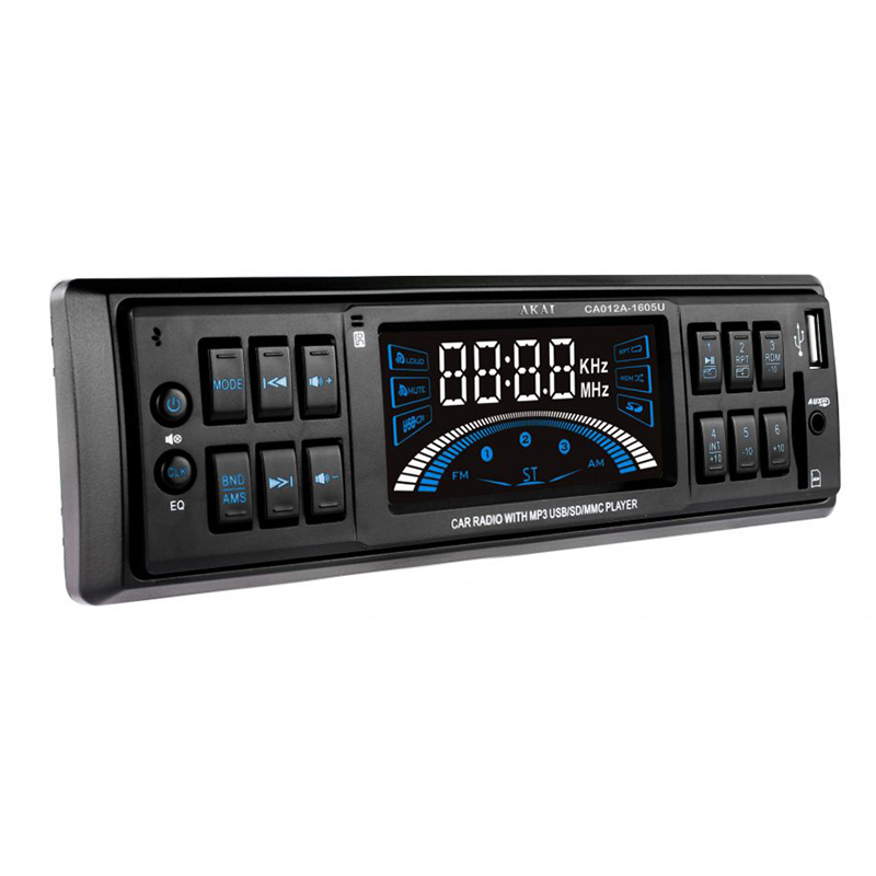 Player auto MP3 Akai, 4 x 7 W, TF card, USB, afisaj LED, egalizator, memorare automata 2021 shopu.ro