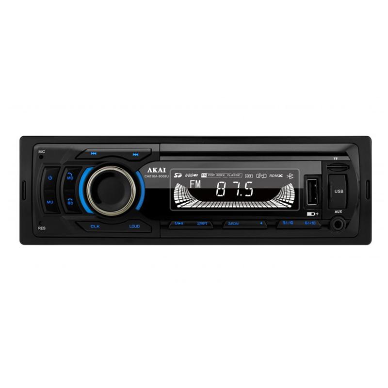 Player auto MP3 Akai, Bluetooth, Radio FM, TF card, 1 x USB functie incarcare, 1 x functie redare audio, afisaj LED, conector ISO 2021 shopu.ro