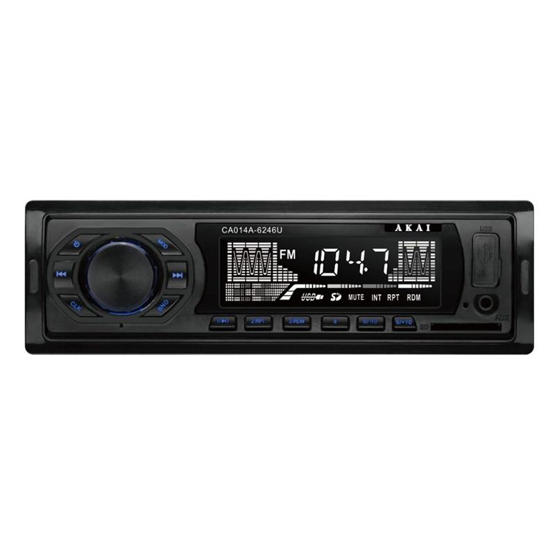 Player auto MP3 Akai, 4 x 7 W, TF card, USB, 1 x functie redare audio, afisaj LED, egalizator, memorare automata 2021 shopu.ro