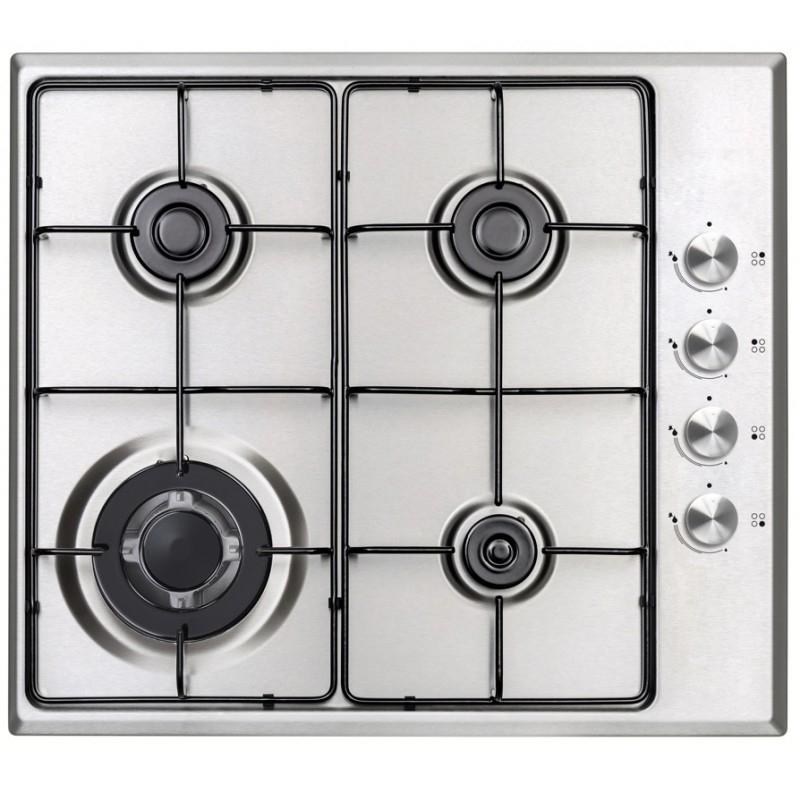 Plita Incorporabila Studio Casa Milano Plus, 1000 W, 4 arzatoare, aprindere electrica, valva siguranta, inox, accesorii incluse 2021 shopu.ro