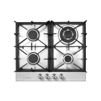 Plita incorporabila Samus, 4 arzatoare, 8 kW, aprindere electrica, material inox, Argintiu