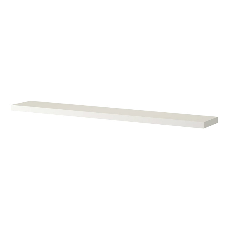 Polita pal, 190 x 26 x 5 cm, suporta maxim 15 kg, alb shopu.ro