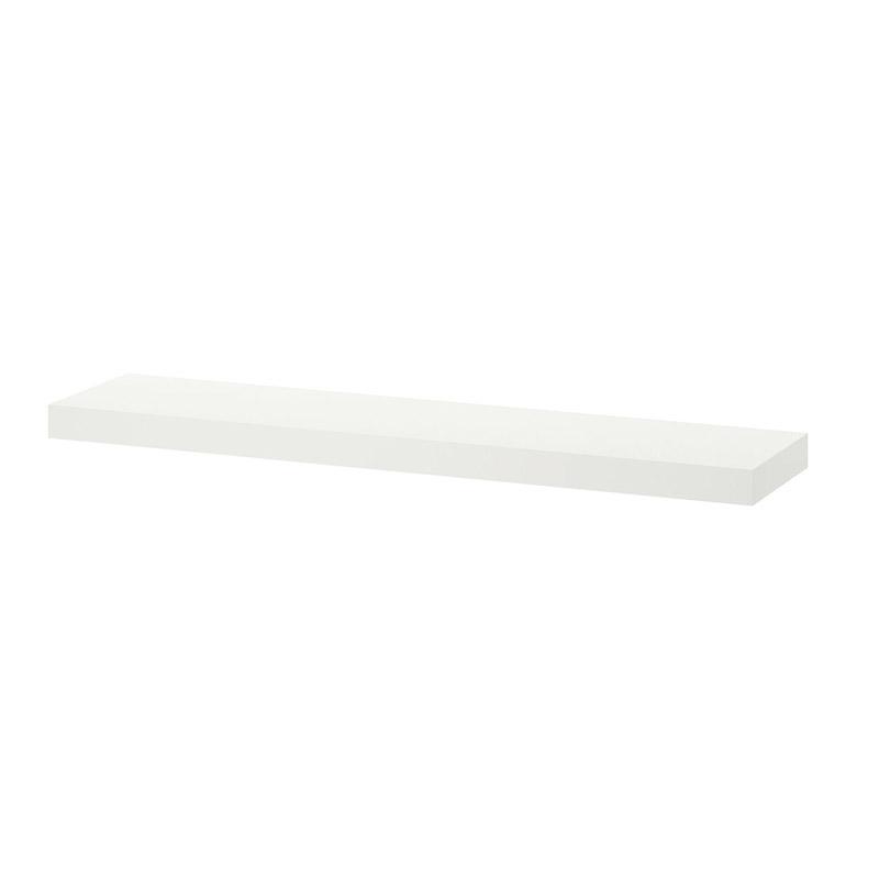 Polita pal, 59 x 20 x 1.5 cm, suporta maxim 10 kg, alb