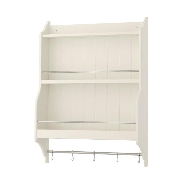 Polita pentru farfurii, cadru MDF, 80 x 20 x 100 cm, alb shopu.ro