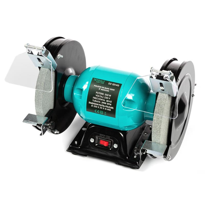 Polizor de banc Detoolz, 350 W, 8 inch, 2950 RPM, disc 200 mm, motor electric shopu.ro