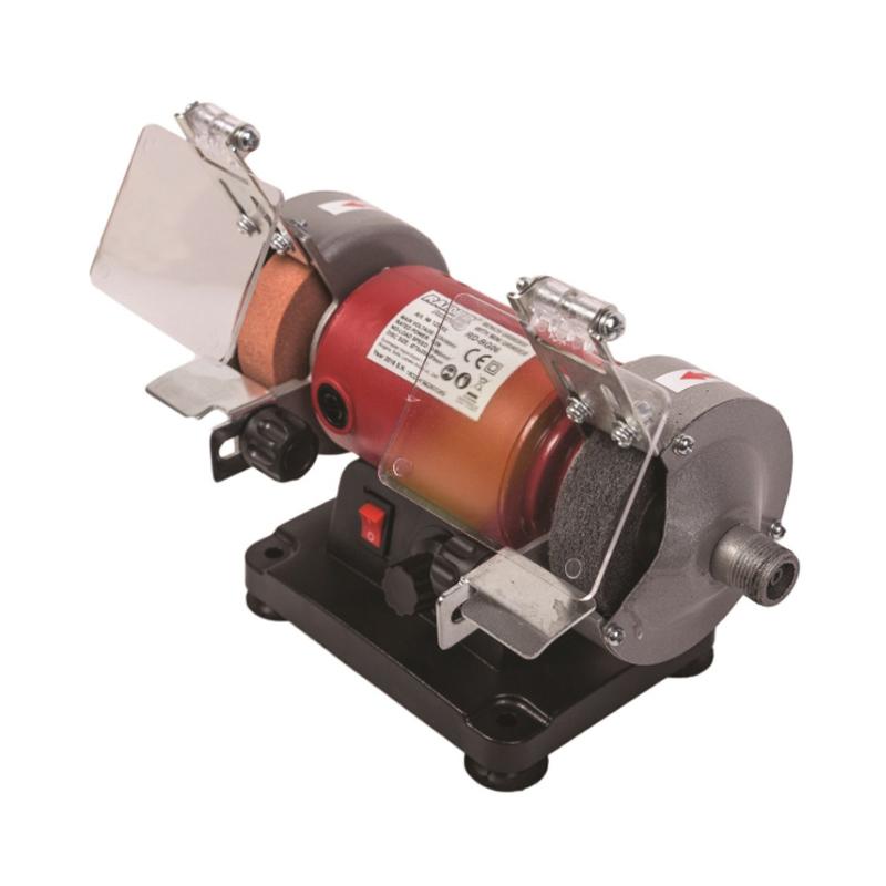 Polizor de banc cu biax Raider RD-BG06, 120 W, 75 mm, 9900 rpm shopu.ro