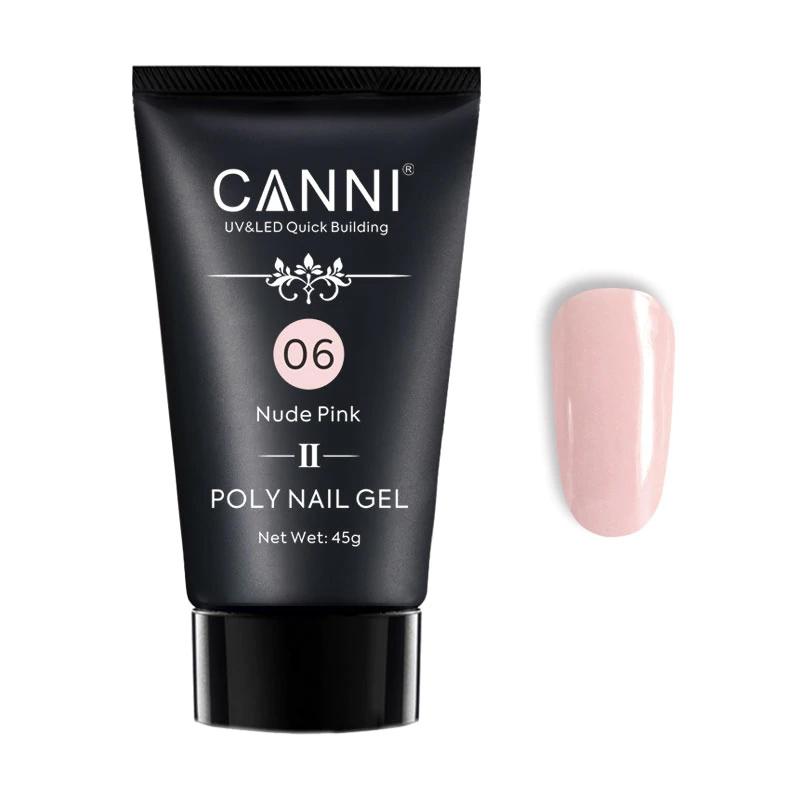 Polygel pentru constructie unghii Canni Premium 06, 45 ml, Nude Pink