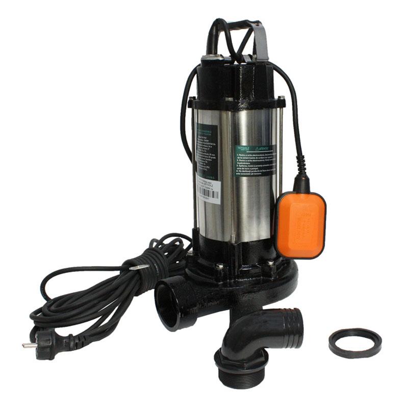 Pompa de apa submersibila cu tocator Detoolz, 1.5 kW, 2 CP, 14 m, 23000 l/h shopu.ro