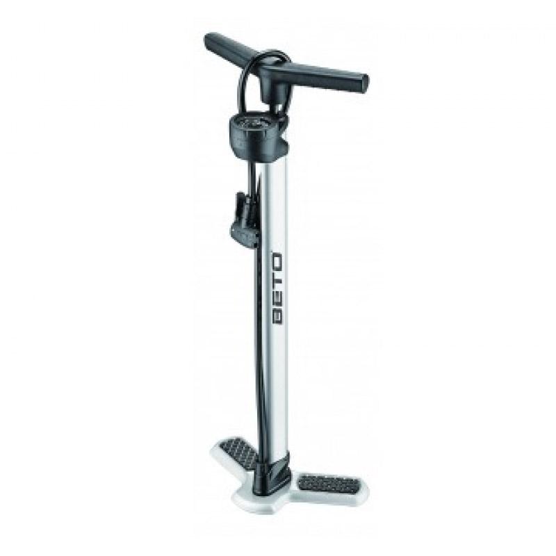 Pompa de podea pentru bicicleta Beto, 160 PSI, material aluminiu, furtun cauciuc