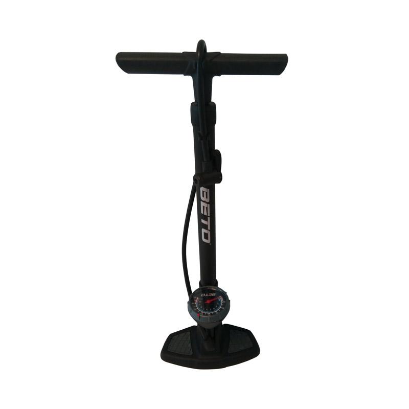 Pompa de podea pentru biciclete Beto cu manometru, cilindru plastic, 160 PSI 2021 shopu.ro