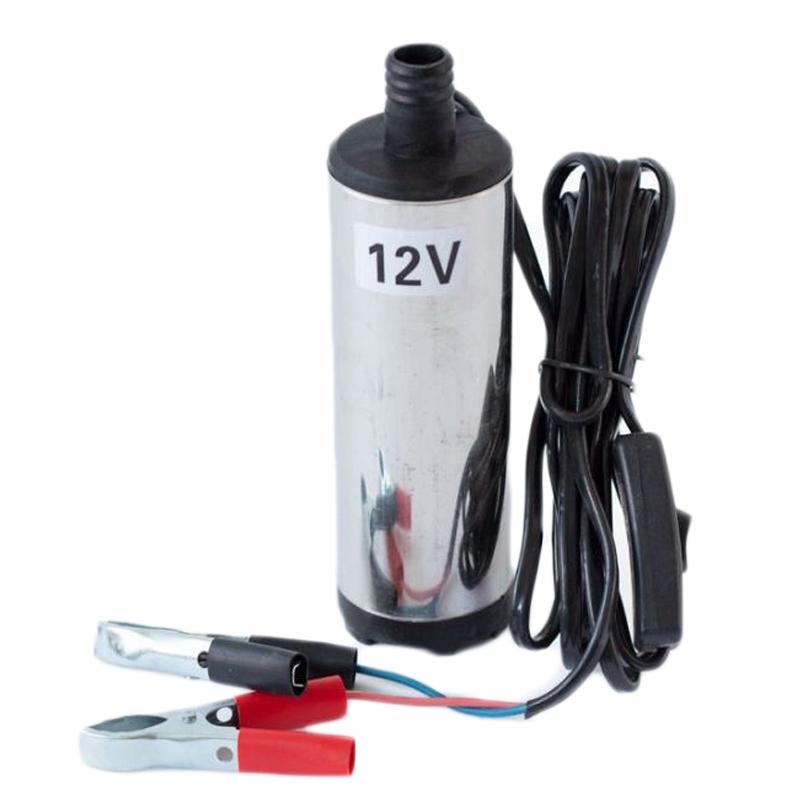 Pompa transfer motorina Micul Fermier, 60 W, 12 V, adancime 3 m, inaltime 6 m, debit 33 l/min, corp inox, bobinaj cupru 2021 shopu.ro
