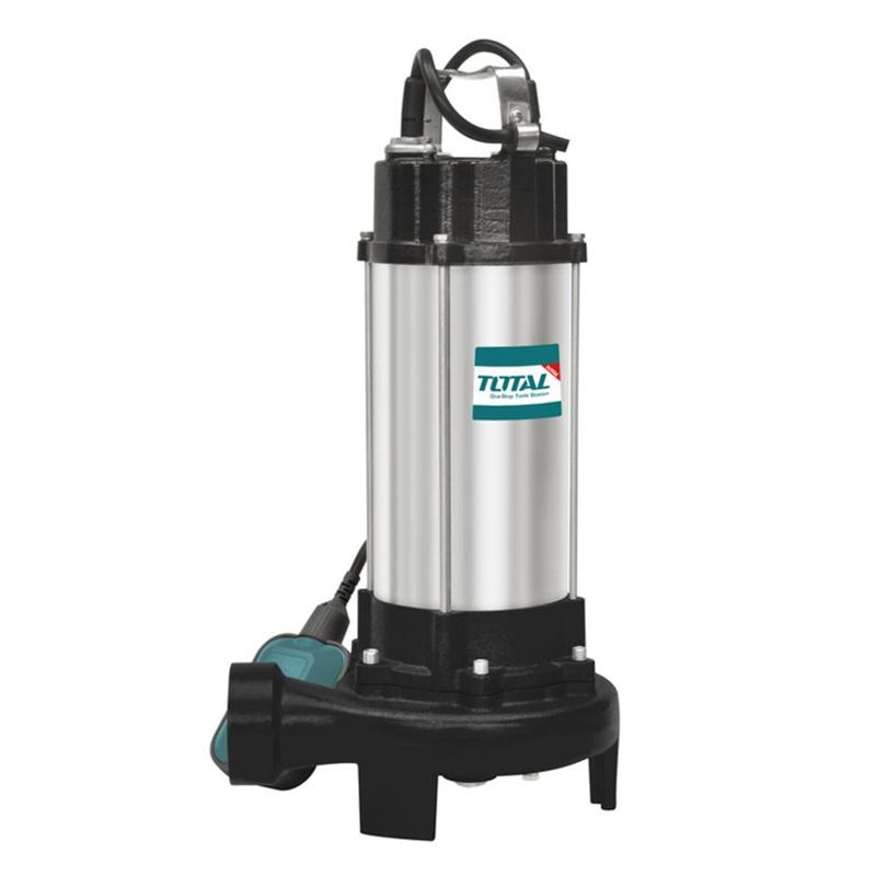 Pompa submersibila cu tocator si plutitor Total, 1500 W, 2 CP, 20 mc/h, motor fonta, racord 2 inch shopu.ro