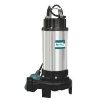 Pompa submersibila cu tocator si plutitor Total, 1500 W, 2 CP, 20 mc/h, motor fonta, racord 2 inch