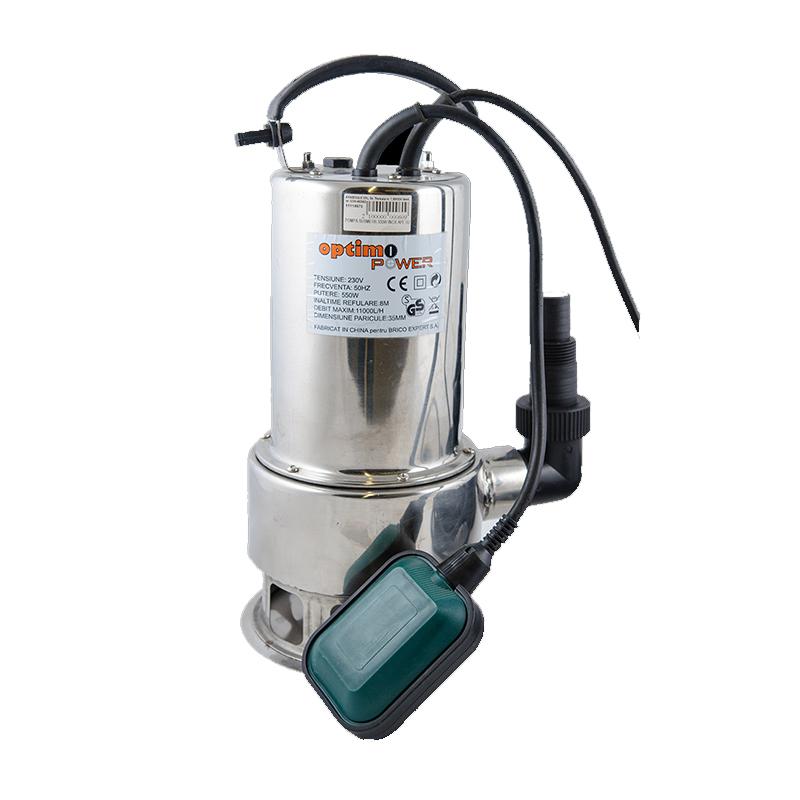 Pompa submersibila pentru ape uzate, 550 W, 11 mc/h, maxim 8 m shopu.ro
