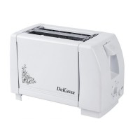 Prajitor de paine DeKassa DK-1501, 750 W, 2 felii, 7 nivele, Alb