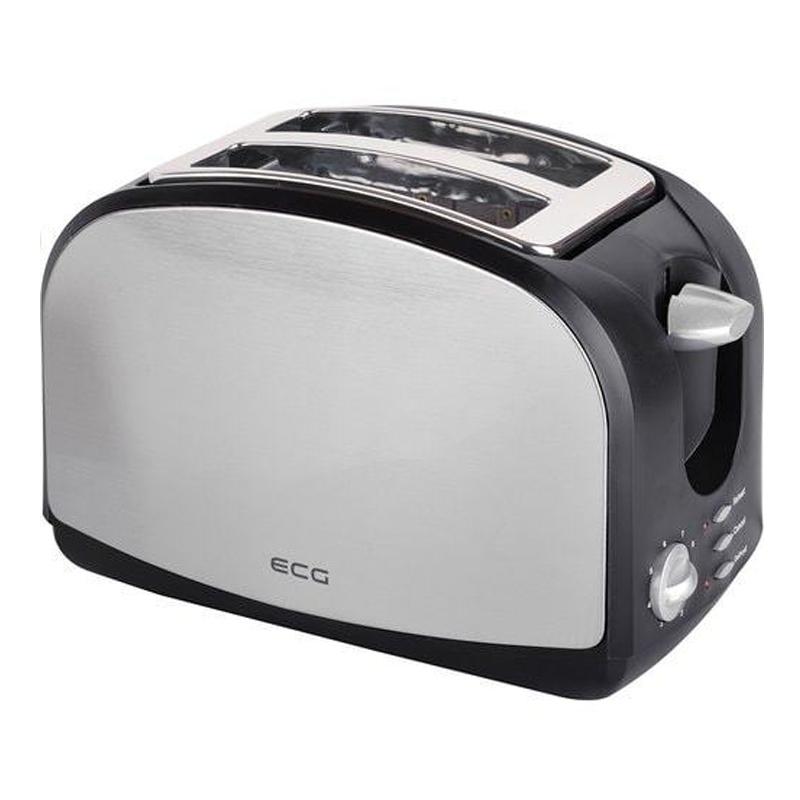 Prajitor de paine ECG, 900 W, 2 felii, functie reincalzire, finisaj inox 2021 shopu.ro