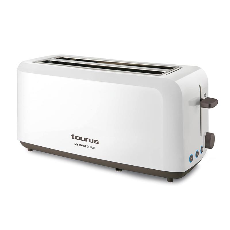 Prajitor de paine My Toast Duplo Taurus, 1450 W, 2 felii, LED, 7 trepte, Argintiu 2021 shopu.ro