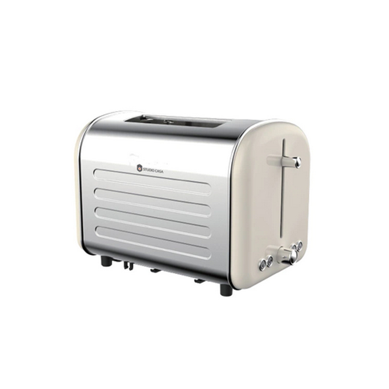Prajitor de paine Retro 80 Studio Casa, 1000 W, 2 felii, 7 nivele rumenire, functie decongelare, tava detasabila, Argintiu 2021 shopu.ro