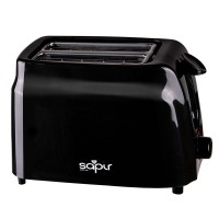 Prajitor de paine Sapir, 750 W, 2 felii, termostat, Negru