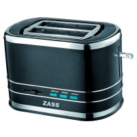 Prajitor de paine Zass ZST 04, 800 W, 2 felii, negru