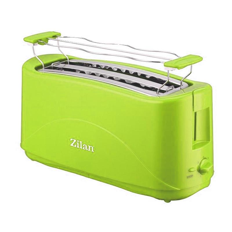 Prajitor de paine dublu Zilan, 4 felii, 1300 W, Verde 2021 shopu.ro