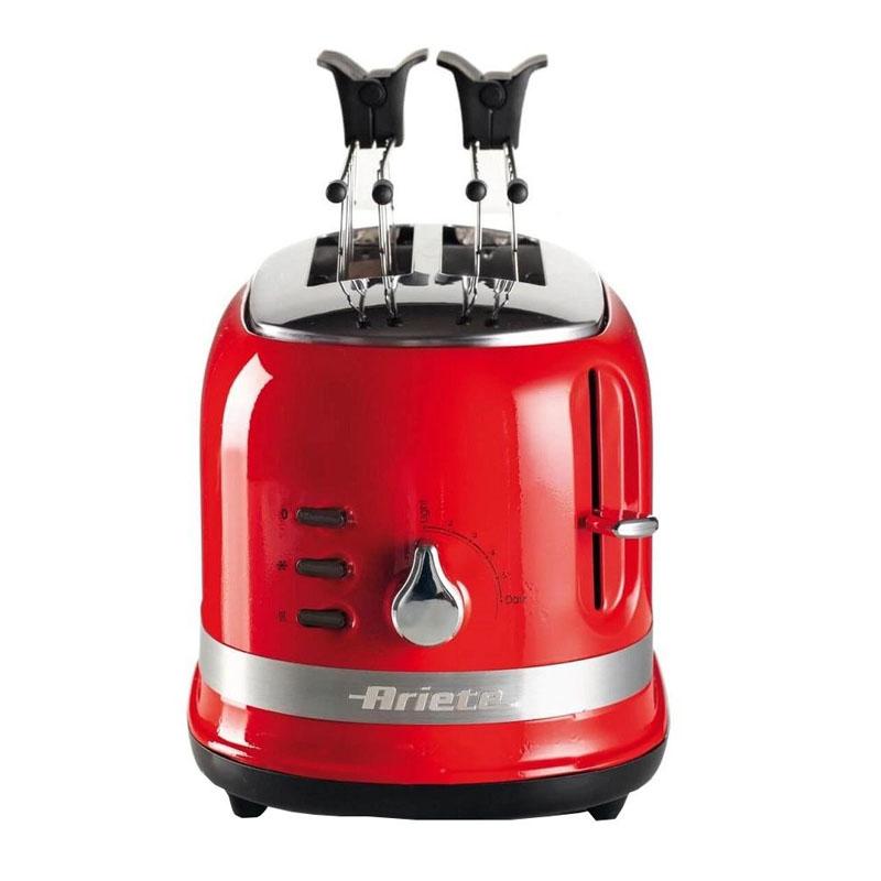 Prajitor de paine toaster Ariete Moderna, 815 W, 2 felii, 6 nivele de rumenire, evacuare automata, picioruse anti-alunecare 2021 shopu.ro