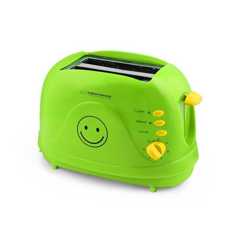 Prajitor paine Smiley Esperanza, 750 W, verde 2021 shopu.ro