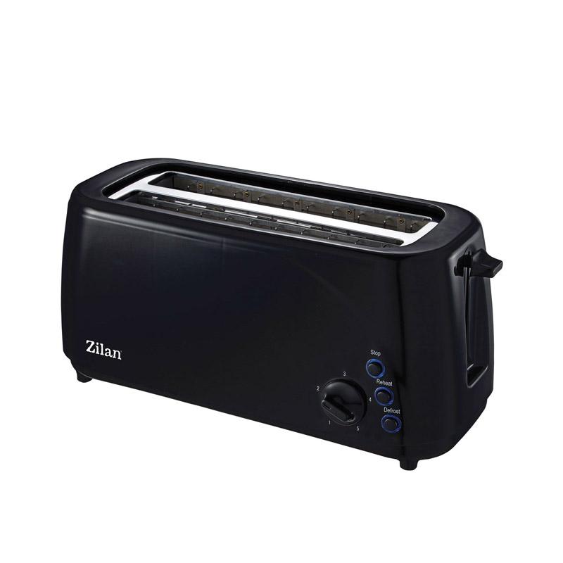 Prajitor paine Zilan, 4 felii, 1400 W, tava firimituri, 5 nivele rumenire 2021 shopu.ro