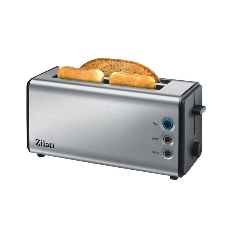 Prajitor paine inox Zilan, 4 felii, 1400 W, 6 nivele rumenire 2021 shopu.ro