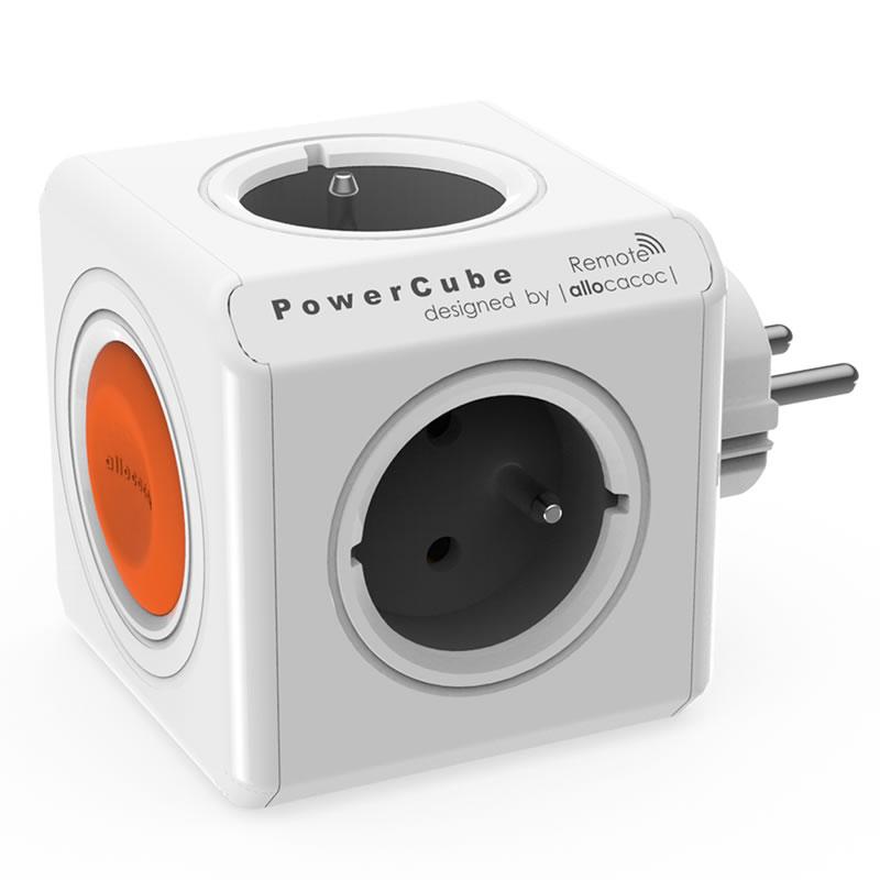 Adaptor priza tip cub Allocacoc PowerCube Remote, 4 prize, telecomanda 2021 shopu.ro