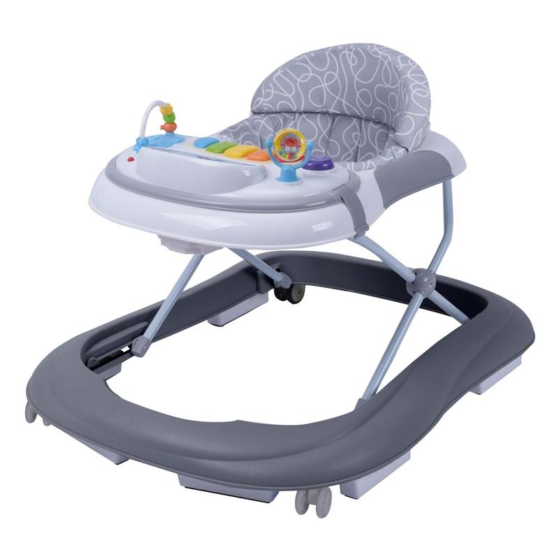 Premergator copii Honey Baby, sunete si lumini, 2 x AA, 6-18 luni, Alb/Gri 2021 shopu.ro