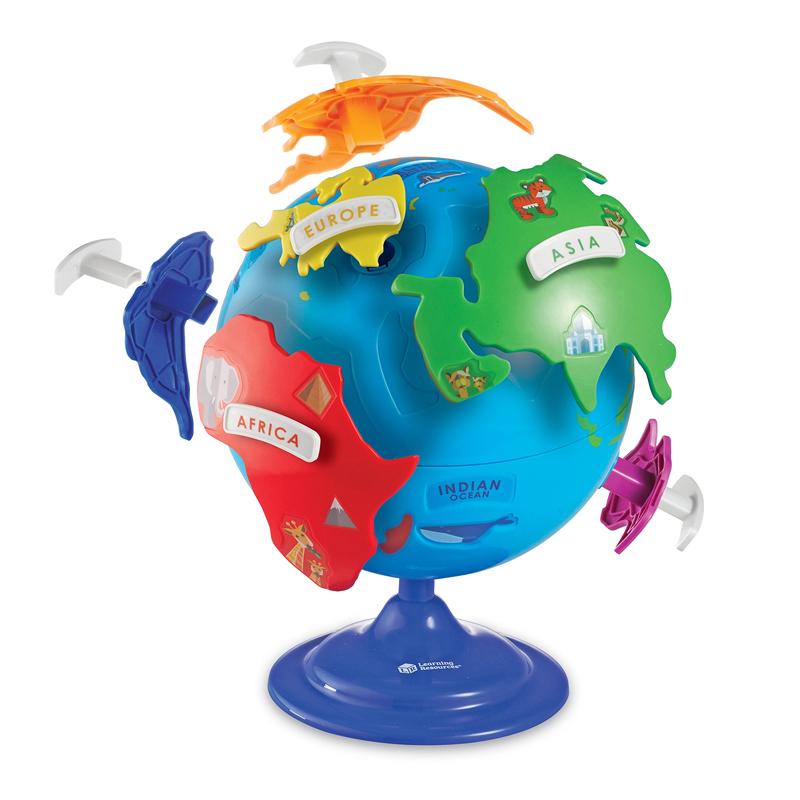 Primul meu glob pamantesc Learning Resources, 360 de grade, 20 cm, 3 - 7 ani 2021 shopu.ro