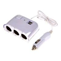 Priza bricheta tripla cu cablu, 2 USB