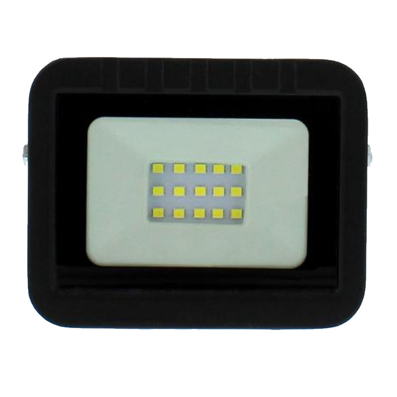 Proiector LED Well, 10 W, 800 lm, IP65, 4000 K, Negru 2021 shopu.ro