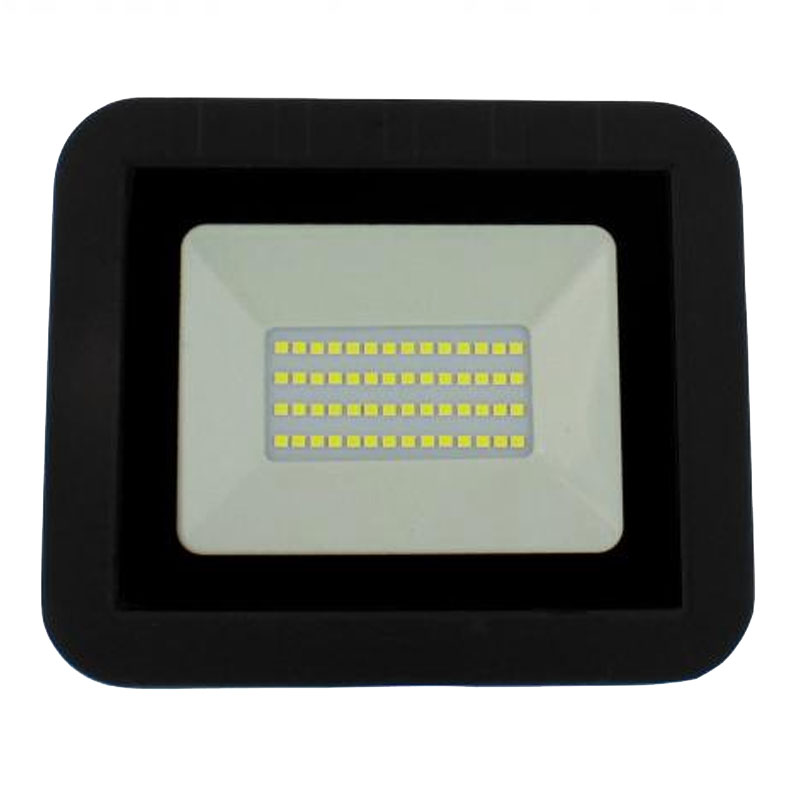 Proiector LED Well, 30 W, 2400 lm, IP65, 4000 K, Negru 2021 shopu.ro
