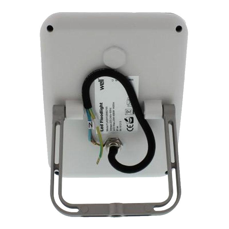 Proiector LED cu senzor Well, 20 W, 1400 lm, IP44, 4000 K, Alb