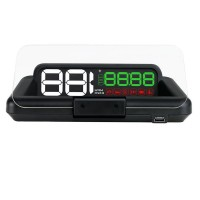 Proiector informatii de bord pe parbriz, Head-Up Display auto Well, display 5 inch, interfata OBD-II
