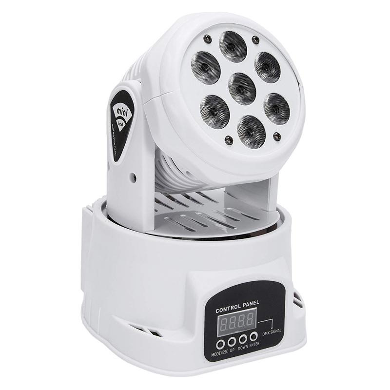 Proiector lumini Wash Mini LED, 6 LED, 1 x laser, LCD, Alb 2021 shopu.ro