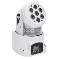 Proiector lumini Wash Mini LED, 6 LED, 1 x laser, LCD, Alb