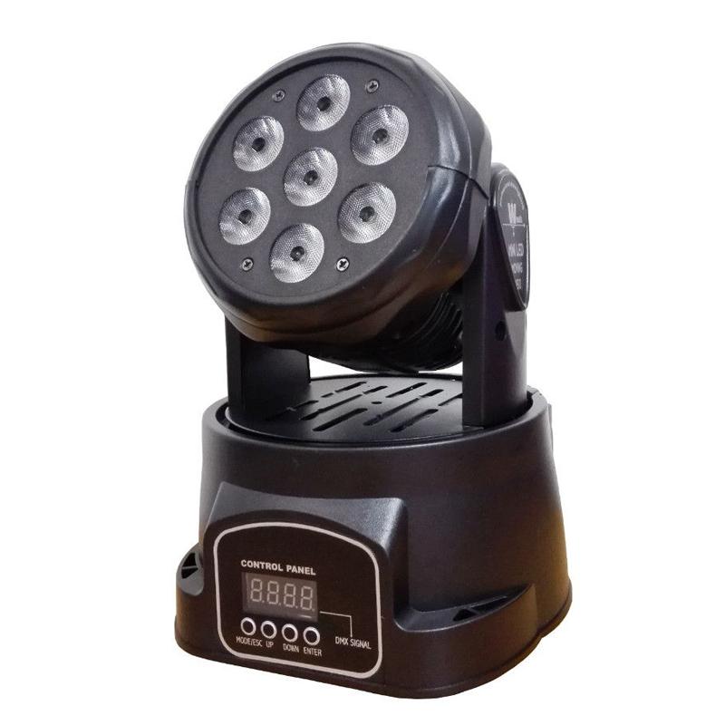 Proiector lumini Moving Head, 5 W x 7 LED, Negru 2021 shopu.ro