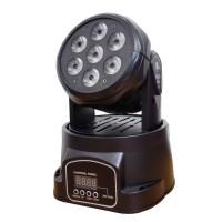 Proiector lumini Moving Head, 5 W x 7 LED, Negru