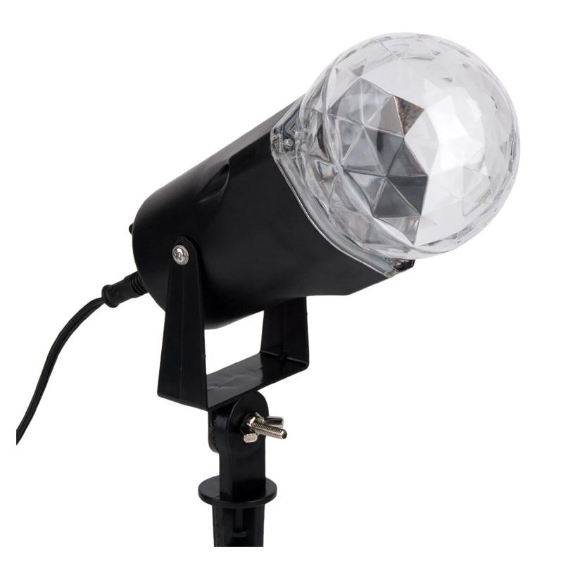 Proiector rotativ LED, fara sunet, alimentare la retea