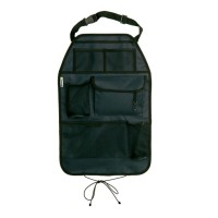 Protectie spatar scaun auto Cover Me Deluxe, suport pentru pahare integrat, 38 x 58 cm