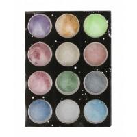 Pudra cu sclipici pentru unghii, 12 culori, Multicolor
