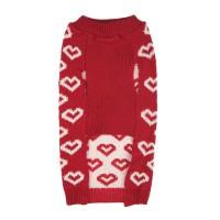 Pulover de iarna pentru catei Hearts, marimea M, model inimi