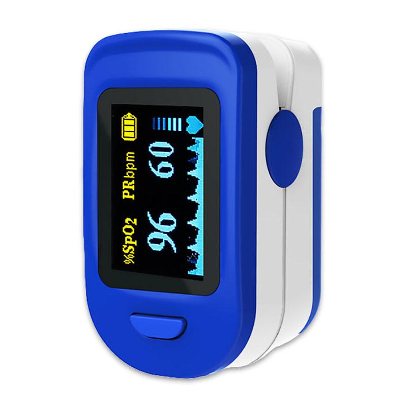 Pulsoximetru RedLine FS20C, indica nivelul de saturatie a oxigenului, masoara rata pulsului, Alb/Albastru 2021 shopu.ro