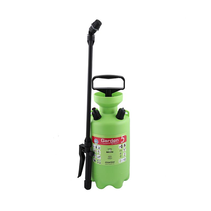 Pulverizator manual Di Martino Garden, 5 l, 3 bar, 450 cm, plastic/metal, duza reglabila, Verde 2021 shopu.ro