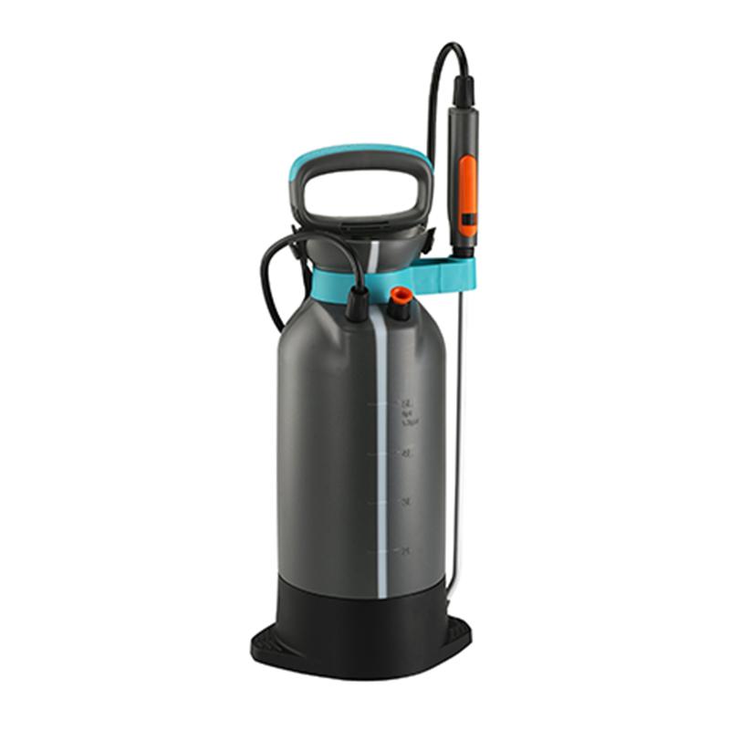 Pulverizator manual Gardena, 5 l, 3 bar, furtun 150 cm, plastic, Gri/Albastru 2021 shopu.ro