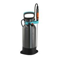 Pulverizator manual Gardena, 5 l, 3 bar, furtun 150 cm, plastic, Gri/Albastru