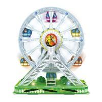 Puzzle 3D Ferris Wheel, 15 x 27 x 30 cm, lumini si muzica